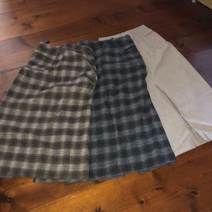 The Limited wool skirts set of 3
